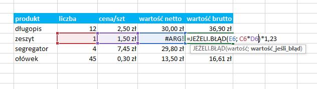Przykład użycia funkcji data Excel