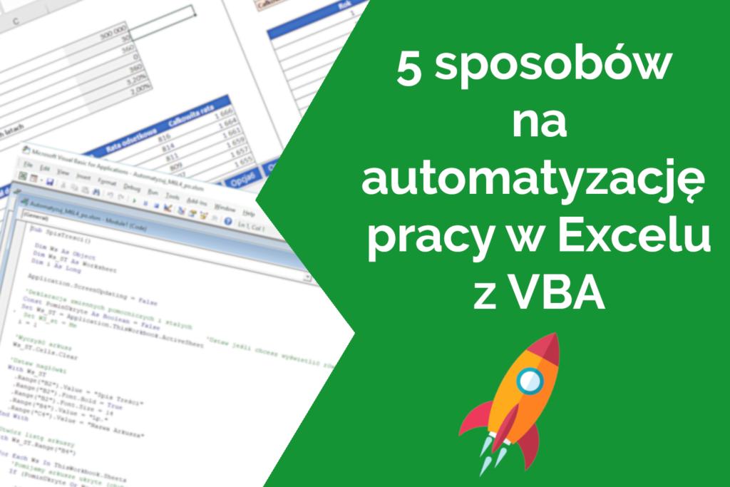 automatyzacja Excel z VBA