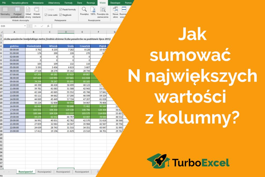 wyzwanie Excel TurboExcel formuły i funkcje